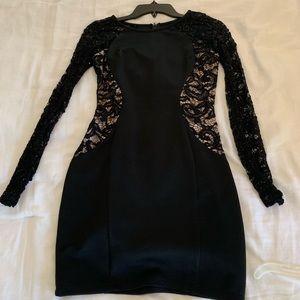 Back lace sparkly dress
